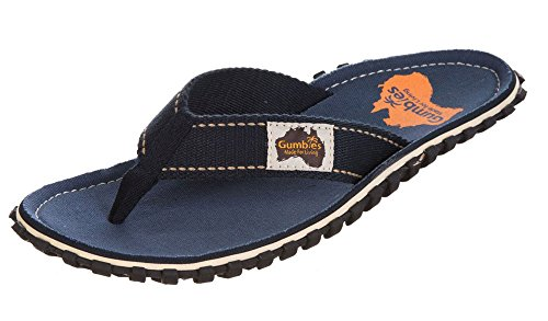 Gumbies Unisex Flip Flop Sandaler Blau