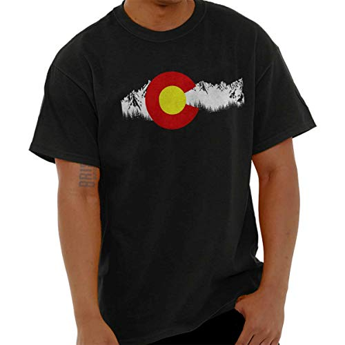 Colorado Flag Rocky Mountain State Pride USA Denver T Shirt ()
