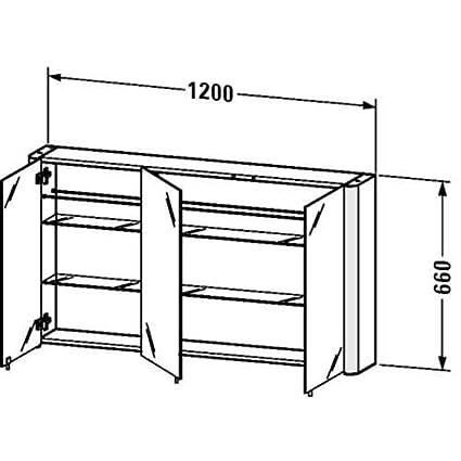 Amazon.com: Duravit Medicine Cabinet LM977303737 White Aluminum: Home  Improvement