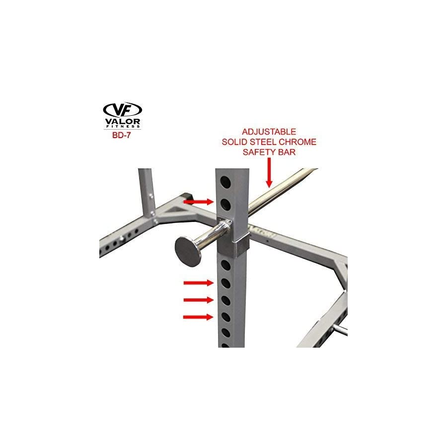Valor Fitness BD 7 Power Rack w/LAT Pull Attachment and Other Power Cage Bundle Options for a Complete Weightlifting Home Gym