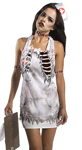 Rubie's Unisex-Adult's Standard Zombie Nurse's Printed Apron, Multicolor, One Size