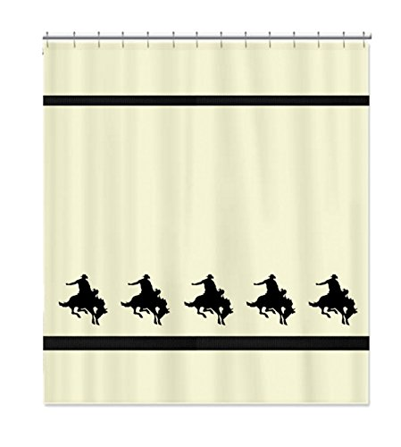 Rodeo Western Bucking Bronco Horse Cowboy Shower Curtain - In Your Choice of Colors - Custom Made Bath Decor