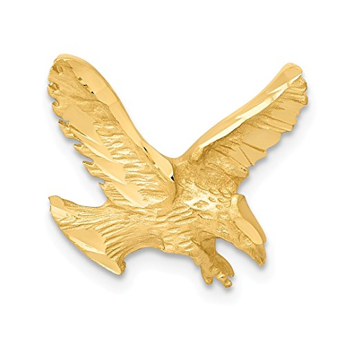 Single Pendant Mounting - 14k Yellow Gold Eagle Necklace Chain Slide Pendant Charm Bird Fine Jewelry For Women Gift Set