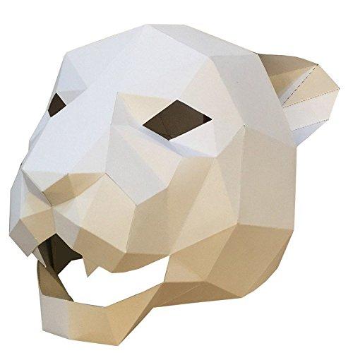 Face mask Shield Veil Guard Screen Domino False Front Jaguar Tiger Head mask Makeup Dance Party Party mask 1