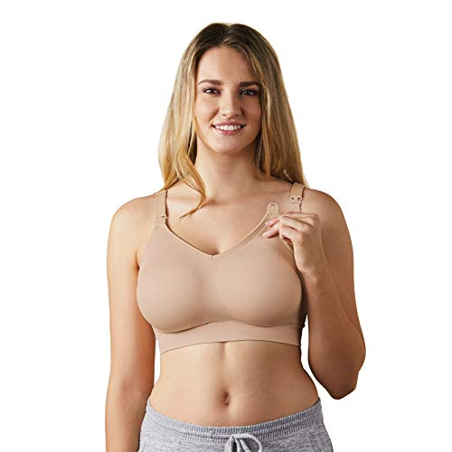 BRAVADO! DESIGNS Women's Body Silk Seamless Nursing Bra and Maternity Bra, Butterscotch, Large - Full Cup