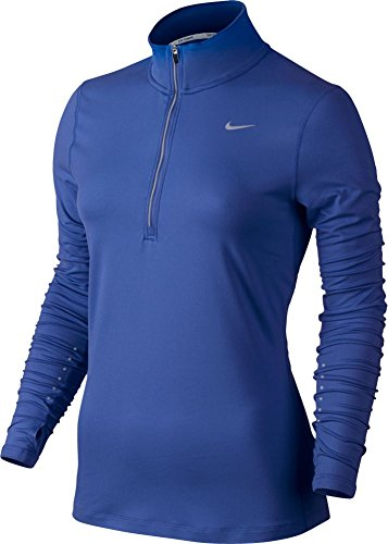 Women's Nike Dry Element Running Top Comet Blue/Reflective Silver Size X-Large