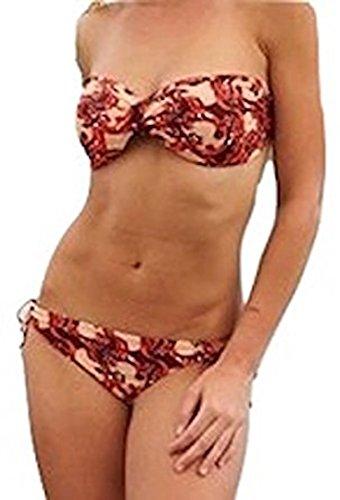 Studded Scroll (Star-Studded Twist Bust Scroll Strapless Bikini Bathing Suit (8))