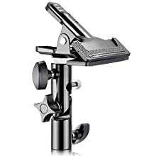 "Neewer Photo Studio Heavy Duty Metal Clamp Holder with 5/8"" Light Stand Attachment for Reflector"