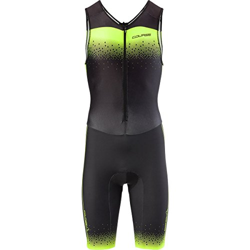 Louis Garneau Tri Course Club Suit Black/Bright Yellow, M - (Louis Garneau Tri Suit)