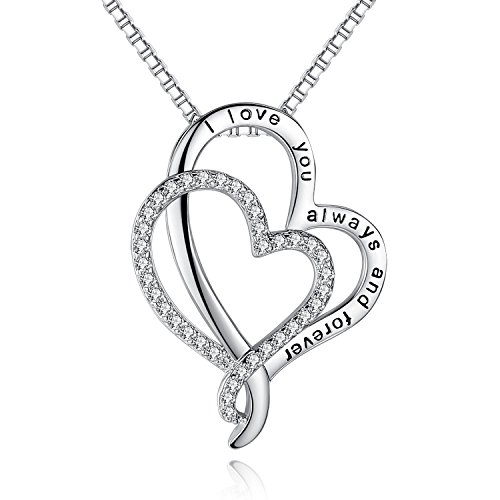 26ad126004 'I Love You To The Moon And Back' Love Heart Necklace Jewelry, Gifts for  Women, Lover, Wife, Sweetheart