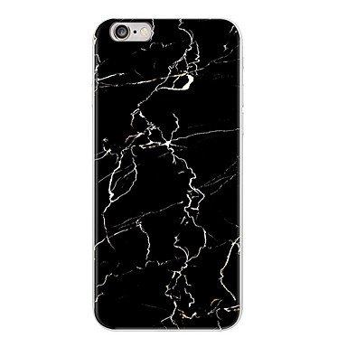 Fundas y estuches para teléfonos móviles, granito exfoliante caja del teléfono de mármol negro caso funda TPU suave para el iphone 5 5s SE 6 6s caso 6plus ( Modelos Compatibles : IPhone 8 Plus , Patró #5