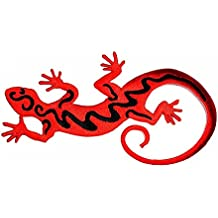 3.5 x 6.5 inches.Red Lizard Gekko Salamander Retro Hippie Fantasy Patch Embroidered DIY Patches,Cute Applique Sew Iron on Kids Craft Patch