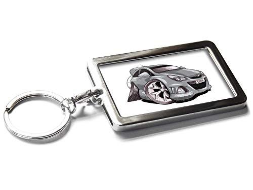 - Koolart Cartoon Car Vauxhall Corsa VXR Metal Keyring with Gift Box (Silver)
