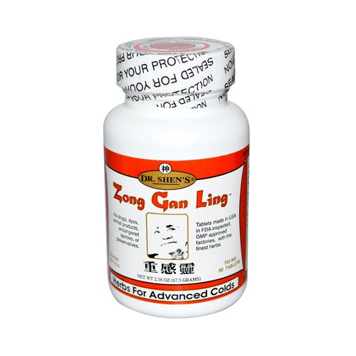 Dr. Shen's Zong Gan Ling Severe Cold and Flu Relief -- 750 mg - 90 (Flu Tabs)