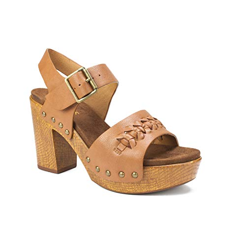 WHITE MOUNTAIN Shoes ALTHEDA Women's Sandal, Cognac/Smooth, 10 M
