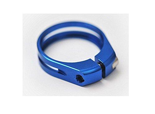 J&L Ultra light Ti/Titanium bolt Seatpost clamp 31.8/34.9-9g (Blue, 31.8mm(9g) for 27.2 or 26.8 seatpost) by J&L