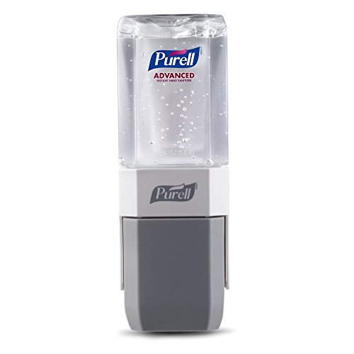 Purell Sanitizer Wall Mount - PURELL Advanced Hand Sanitizer ES Everywhere System Starter Kit, 1 - 450 mL Sanitizer Refill + 1 - PURELL ES Compact Starter Push-Style Dispenser - 1450-D8