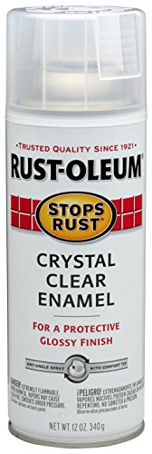 (Rust-Oleum 7701830-6 PK Stops Rust Spray Paint, Enamel, 12 Fl. Oz. Aerosol Can, Gloss Crystal Clear (Pack of 6))