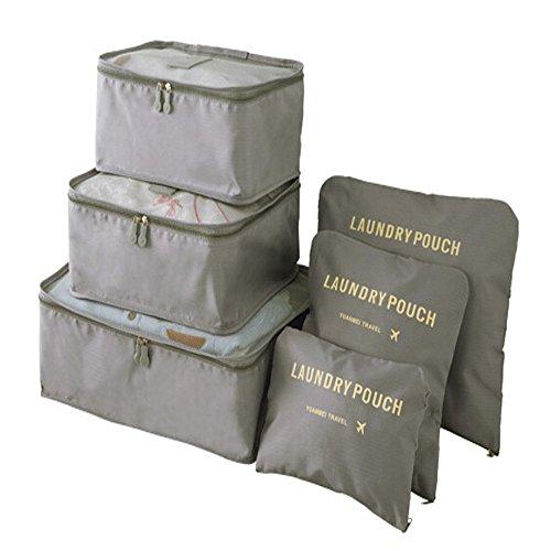 Mbangde 6 Set Packing Cubes, Travel Luggage Organizer - 3 Travel Cubes...