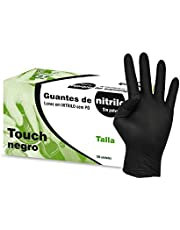 Kiepe Guantes Nitrilo Touch Negro, Pequeño - 100 Unidades