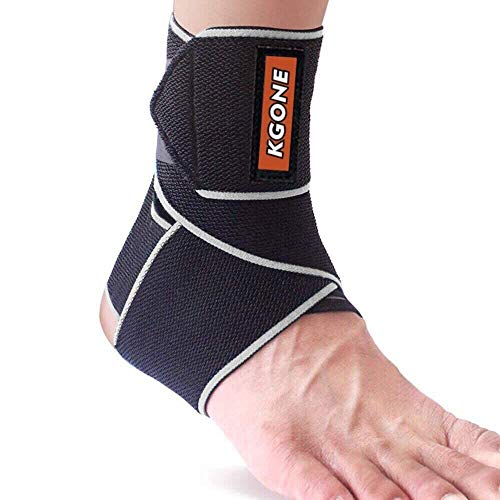 KGONE Ankle Support, Adjustable Ankle Brace Breathable Nylon Material Super Elastic and Comfortable Ankle Wrap for Men and Women,One Size Fits All