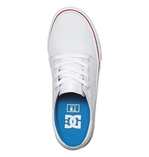 Blanc Baskets DC Femme Rouge Bleu TX Basses J Trase Shoes RqZO0v