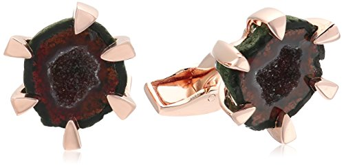 Tateossian Geode Claw Setting Rose Gold Plating 1 Micron Cuff Link