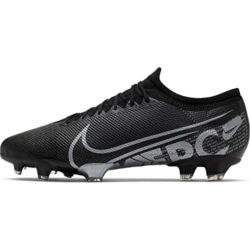 Nike Men's Vapor 13 PRO FG Soccer Cleats (Black/MTLC Cool Grey) (9.5 D US)