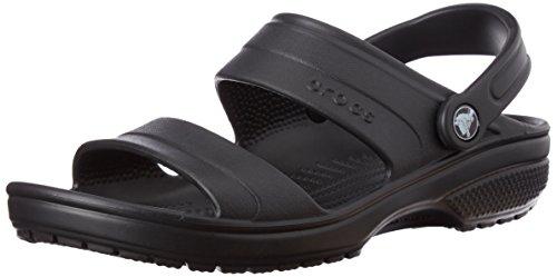 crocs Unisex Classic Dress Sandal, Black, 11 M US (Mens Sandals Classic)