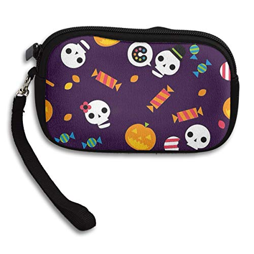 Halloween Wallpaper Holiday Coin Purse,wallet Change Purse With Zipper,Mini Pouch Phone Pouch Cosmetic Bag Cute Portable Bag Coin Bag ()