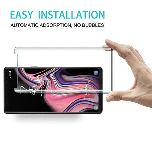 Galaxy Note 9 Screen Protector, Tempered Glass Screen Protector 3D Curved 9H Hardness HD Clear Anti-Scratch Tempered Glass Film Screen Protector Compatible Samsung Galaxy Note 9 (Clear) by my-handy-design (Image #4)