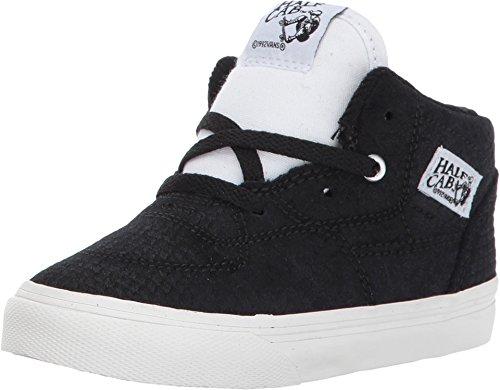 Vans Half Cab Snake Black/White Toddler Shoes (9.5 M US Toddler) (Cab Leather)
