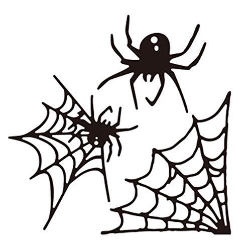 Satelliter Cutting Die Halloween Pumpkin Spider Web Embossing Metal Mould Template Die Cuts for DIY Scrapbooking Photo Album Decorative Metal Stencils Paper Cards Making(H14)]()