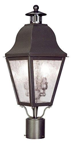 2 Light Bronze Outdoor Post Lantern