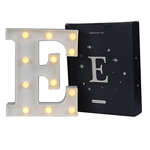 DELICORE LED Marquee Letter Lights Alphabet Light Up Sign for Wedding Home Party Bar Decoration E