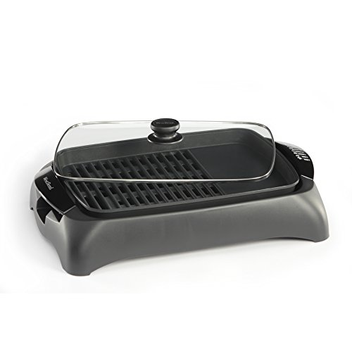 (West Bend 6111 Electric Indoor Counter Top Grill with Drip Tray Featuring Temperature Control, Black (Discontinued by Manufacturer))