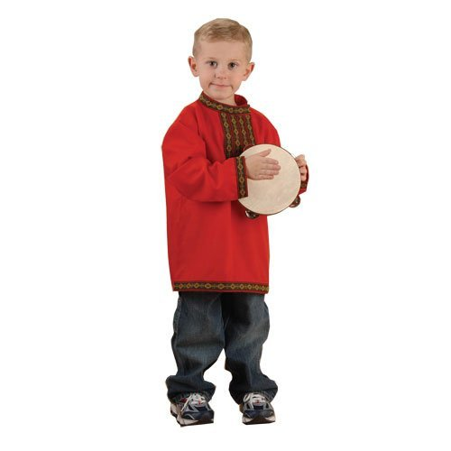 Russian Boy Kids Costume - Fits Most Children Ages 3-6 by Constructive Playthings ()