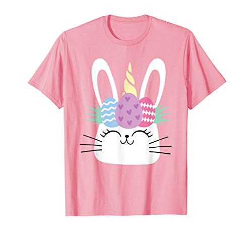Cute Unicorn Easter Shirt Top Girl Easter Bunny ()
