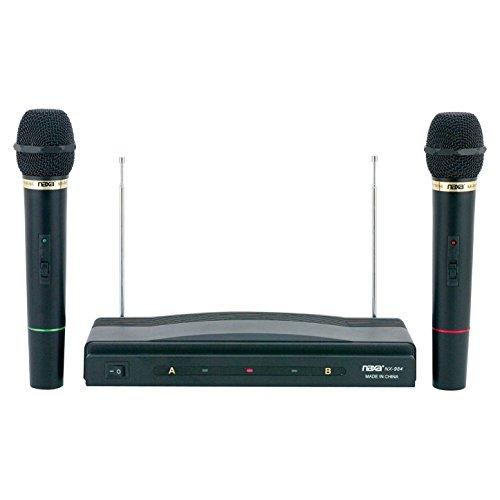 Microphone System, Naxa Nam-984 Dual Wireless Portable Microphone System Karaoke