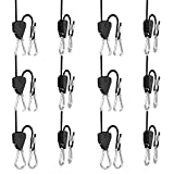 6 Pairs 1/8 inch Adjustable Heavy Duty Rope Hanger