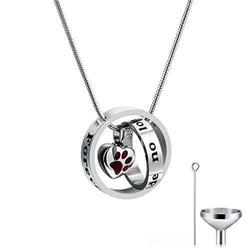 CAT EYE JEWELS Memorial Urn Necklace No Longer by My Side Forever in My Heart with Funnel Kit DCH-RP
