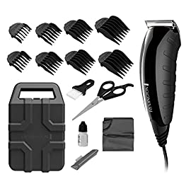 Remington HC5850 Virtually Indestructible Haircut Kit & Beard Trimmer, Hair Clippers for Men (15 pieces), Colors Vary - 41 aU3AHB7L - Remington HC5850 Virtually Indestructible Haircut Kit & Beard Trimmer, Hair Clippers for Men (15 pieces), Colors Vary