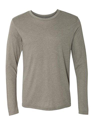45525 6071 Next Level Mens Tri-Blend Long-Sleeve Crew Neck Tee Venetian Grey - Large ()