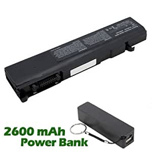 Battpit Bateria de repuesto para portátiles Toshiba Tecra M6-S6613 (4400 mah) con 2600mAh Banco de energía / batería externa (negro) para Smartphone