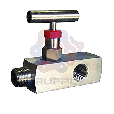 "Needle Valve | Mulit Port | 10000 PSI | Male x Female | NPT .5"" x .5"" 
