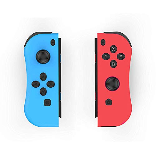 Aosai NS Switch Joy Pad Controllers - Left and Right Controllers Compatible for Nintendo Switch Console as a Joy Con Controller Replacement (Red/Blue)