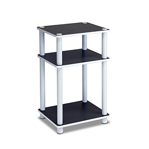 Furinno 11087 Just 3-Tier No Tools Dual Color Reversible End Table, White/Espresso ()