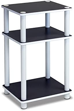 picture of FURINNO Just 3-Tier End Table, 1-Pack, White/White