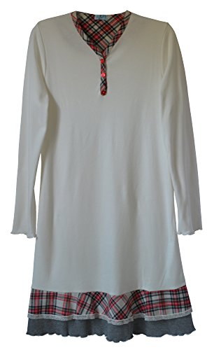 Andra Dreamwear Interlock Cotton Sleepshirt with Scottish Design