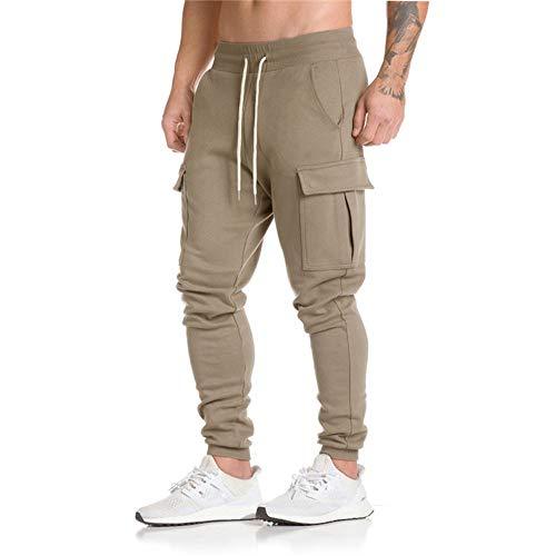 Mr.Macy Men Trousers Harem Sweatpants Slacks Casual Jogger Dance Sportwear Baggy Khaki